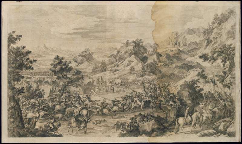 战争铜版画系列.清乾隆时期.郎世宁等绘制